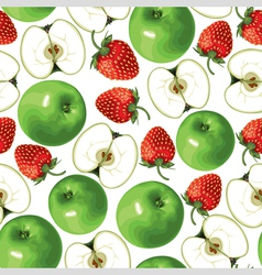 Apple strawberry vector