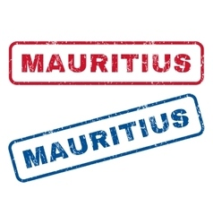 Mauritius rubber stamps vector