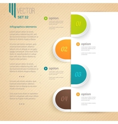 Business infographic tab vector image