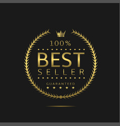 best seller label vector image