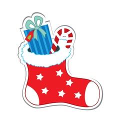santa sock vector image