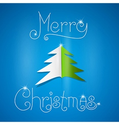 Merry christmas theme on blue background vector