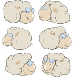 Sheep clouds cartoon vector