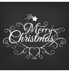 Merry christmas on blackboard background vector