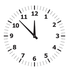 black simple clock vector image