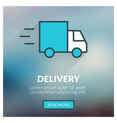 Flat design concept for delivery with blurr vector
