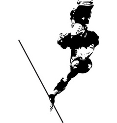 skater design vector image