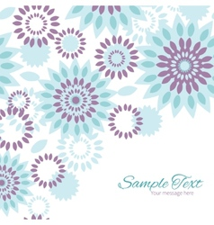 Purple and blue floral abstract frame vector