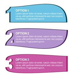 Three color options vector