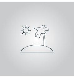 Island and palm icon vector