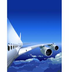 jet cruising in the sky vector image