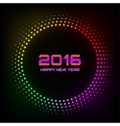 Colorful bright abstract new year 2016 background vector