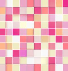 Retro Pink Pastel Square Background vector image