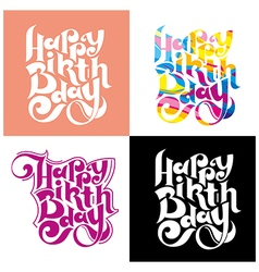 Greeting card on his birthday vector