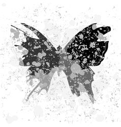 acid butterfly vector image