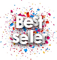 Best seller paper background vector