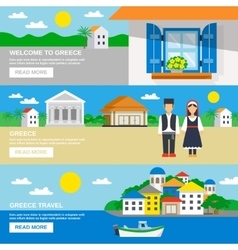 Greece banner set vector