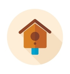 Nesting box bird-house flat icon vector image