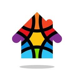 Colorful house logo colored house logo house logo vector