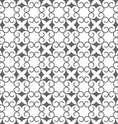Abstract seamless stylized flower pattern in vector image vector image
