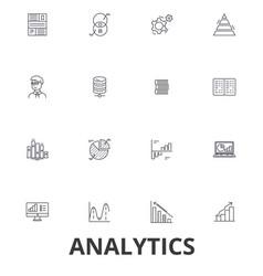 analytics data statistics analyze gra vector image