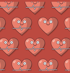 Colorful background with pattern of heart and vector