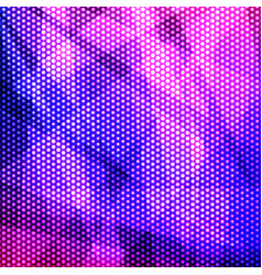 Colorful purple background of circles vector