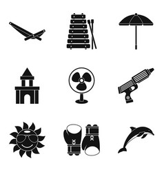 cooling icons set simple style vector image vector image