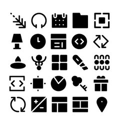 Design and Development Icons 3 vector image vector image