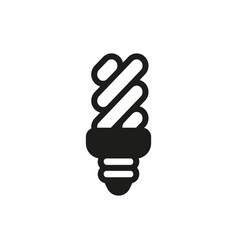 energy saving light bulb on white background vector image