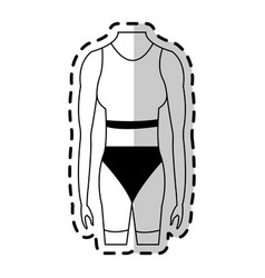Female torso fit body icon image vector