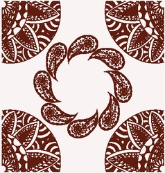 Flowers and paisley pattern decorative with copy s vector