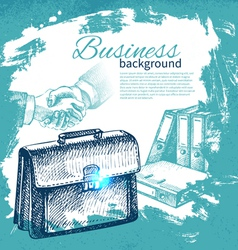Hand drawn business background vector image vector image