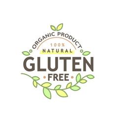 healty food logo representing vector image vector image