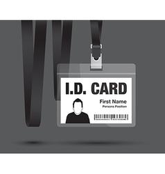 id card black vector image