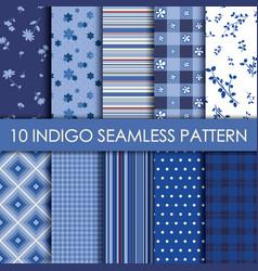 Indigo collection background vector