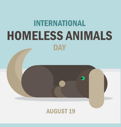 International homeless animals day vector