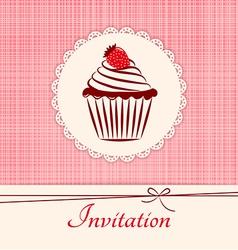 Invitation applique card background vector image vector image