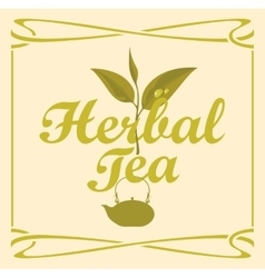 Label for herbal tea vector