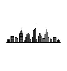 Line cityscape design vector image vector image