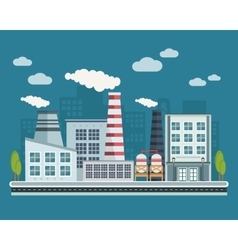 Manufacturing buildings vector