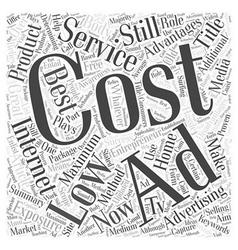 Maximum exposure on low cost internet ad word vector