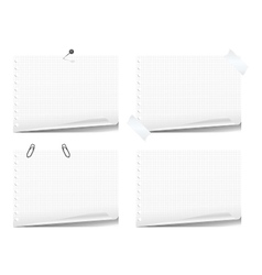 Note book pages vector image vector image