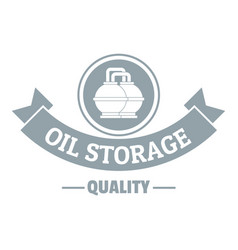 Oil storage logo simple gray style vector