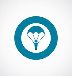 Parachutist icon bold blue circle border vector