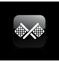 race flag icon vector image