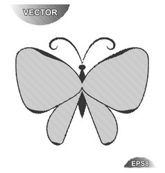 striped summer butterfly vector image