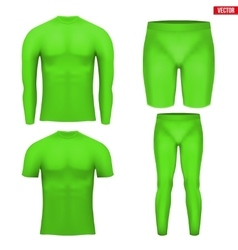Thermal underwear layer compression set vector image