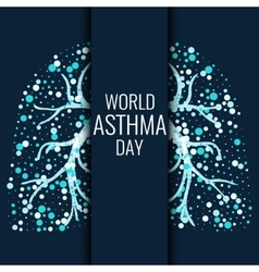 World asthma day banner vector