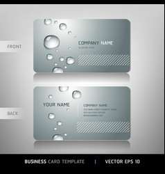 Business card with water drop vector